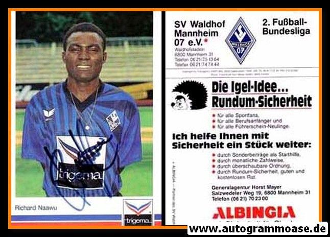 Autogramm Fussball | SV Waldhof Mannheim | 1991 | Richard NAAWU