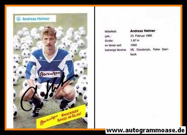 Autogramm Fussball | SV Meppen | 1990 | Andreas HELMER
