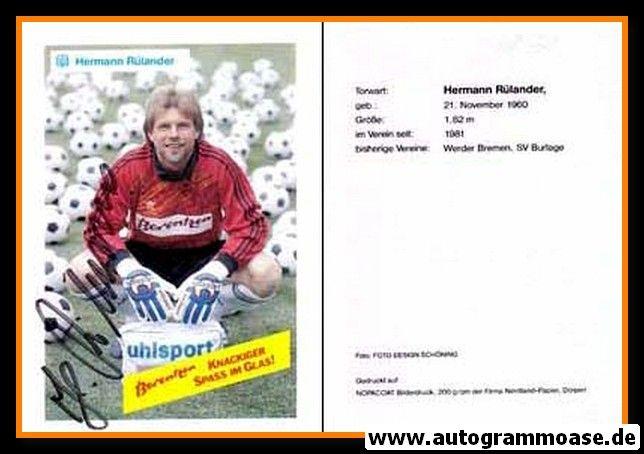 Autogramm Fussball | SV Meppen | 1990 | Hermann RÜLANDER