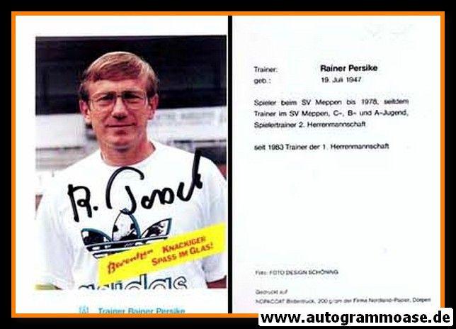 Autogramm Fussball   SV Meppen   1990   Rainer PERSIKE