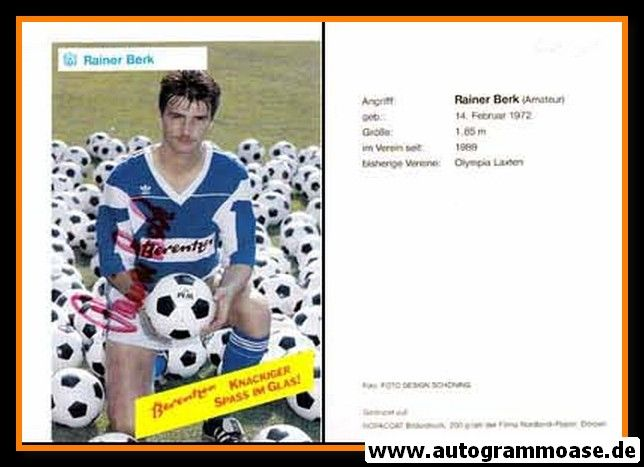 Autogramm Fussball | SV Meppen | 1990 | Reiner BERK