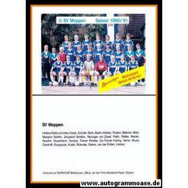 Mannschaftskarte Fussball | SV Meppen | 1990