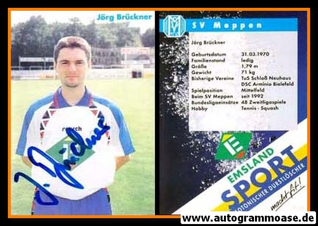 Autogramm Fussball | SV Meppen | 1994 | Jörg BRÜCKNER
