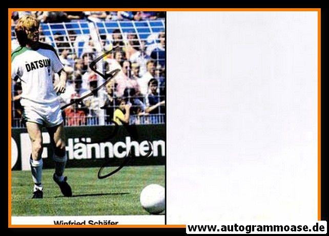 Autogramm Fussball | Borussia Mönchengladbach | 1982 | Winfried SCHÄFER