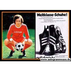 Autogramm Fussball   FC Bayern München   1970er Adidas   Franz BECKENBAUER (Portrait Color)