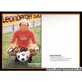 Autogramm Fussball | FC Bayern München | 1980er | Dieter HOENESS (Leonberger)