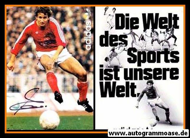 Autogramm Fussball   FC Bayern München   1980er   Wolfgang DREMMLER (Adidas)