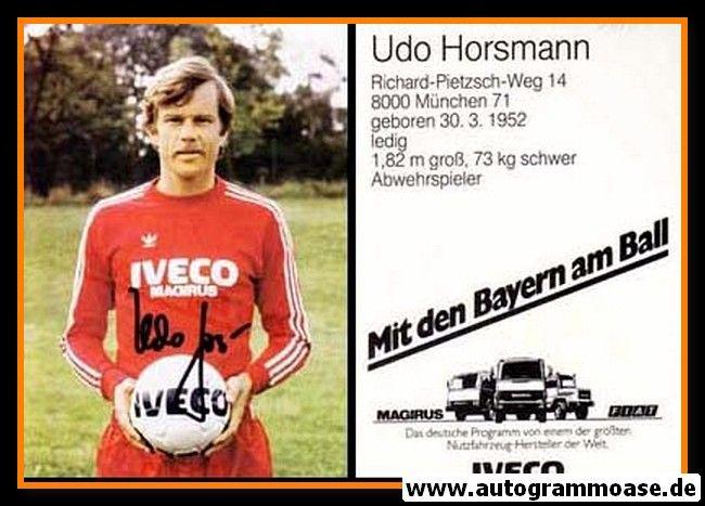 Autogramm Fussball | FC Bayern München | 1982 | Udo HORSMANN