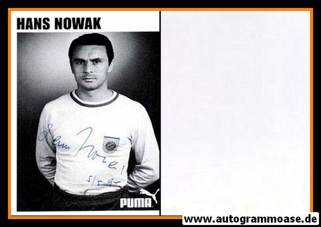 Autogramm Fussball   FC Bayern München   1960er Retro   Hans NOWAK (Portrait SW Puma)