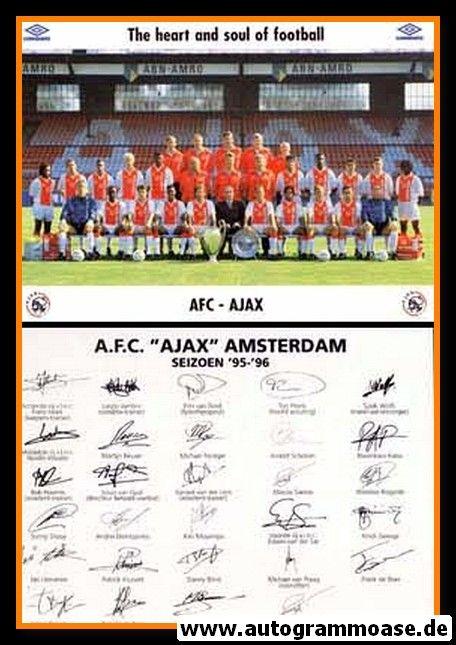 Mannschaftskarte Fussball   AFC Ajax Amsterdam   1995