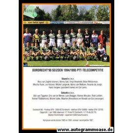 Mannschaftskarte Fussball   FC Dordrecht   1994