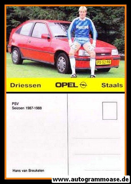 Autogramm Fussball | PSV Eindhoven | 1987 | Hans VAN BREUKELEN