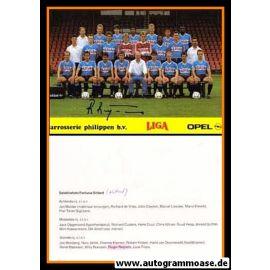 Mannschaftskarte Fussball   Fortuna Sittard   1988 + AG Roger REIJNERS
