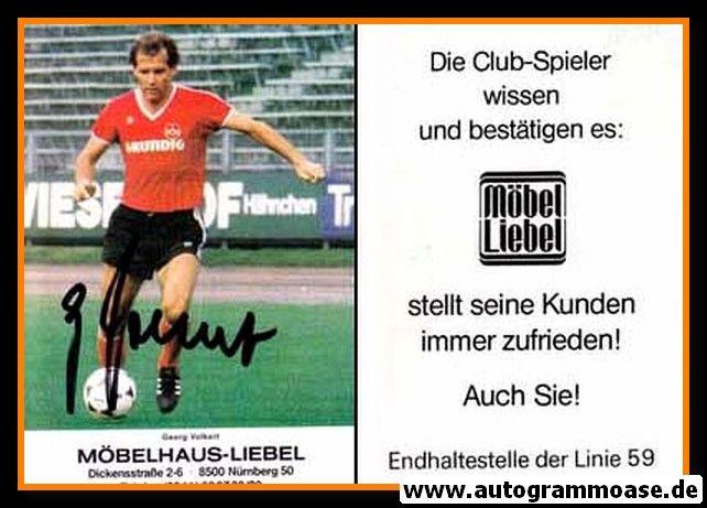 Autogramm Fussball   1. FC Nürnberg   1980   Georg VOLKERT