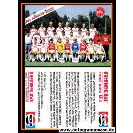 Mannschaftskarte Fussball   1. FC Nürnberg   1987 Reflecta