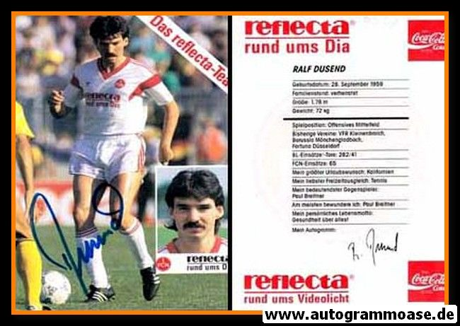 Autogramm Fussball | 1. FC Nürnberg | 1990 | Ralf DUSEND