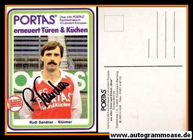 Autogramm Fussball   Kickers Offenbach   1984   Rudi SANDNER