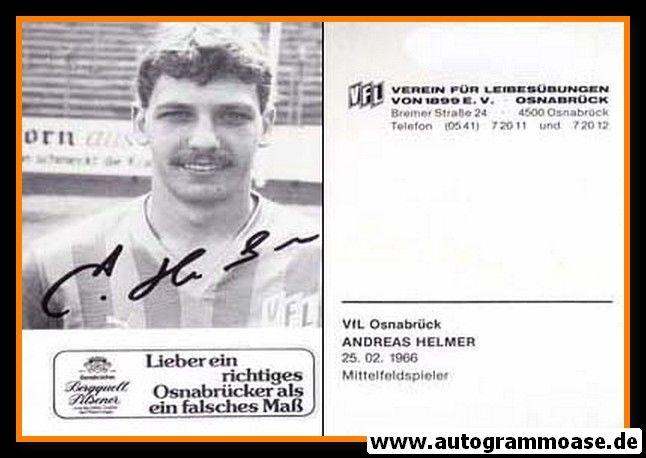 Autogramm Fussball | VfL Osnabrück | 1985 | Andreas HELMER