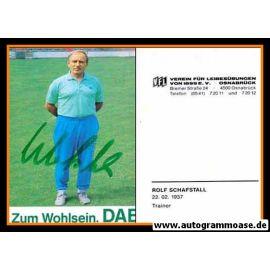 Autogramm Fussball | VfL Osnabrück | 1989 | Rolf SCHAFSTALL