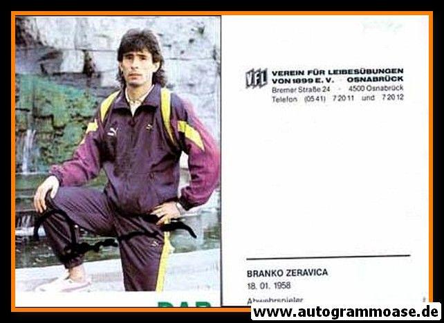 Autogramm Fussball | VfL Osnabrück | 1990 | Branko ZERAVICA