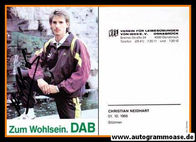 Autogramm Fussball | VfL Osnabrück | 1990 | Christian NEIDHART