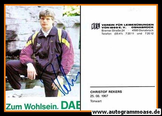 Autogramm Fussball | VfL Osnabrück | 1990 | Christof REKERS