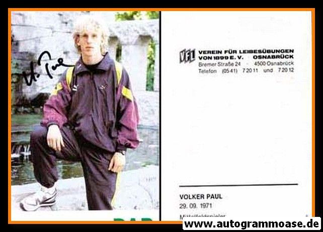 Autogramm Fussball | VfL Osnabrück | 1990 | Volker PAUL
