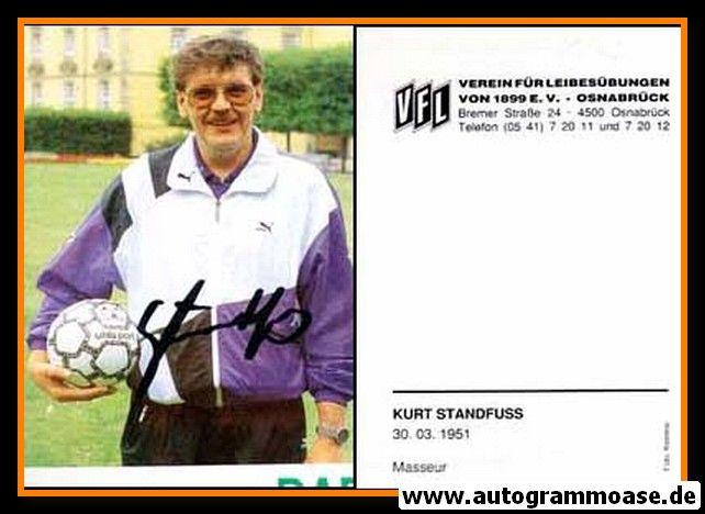 Autogramm Fussball   VfL Osnabrück   1991   Kurt STANDFUSS
