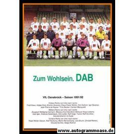 Mannschaftskarte Fussball   VfL Osnabrück   1991 + 3 AG