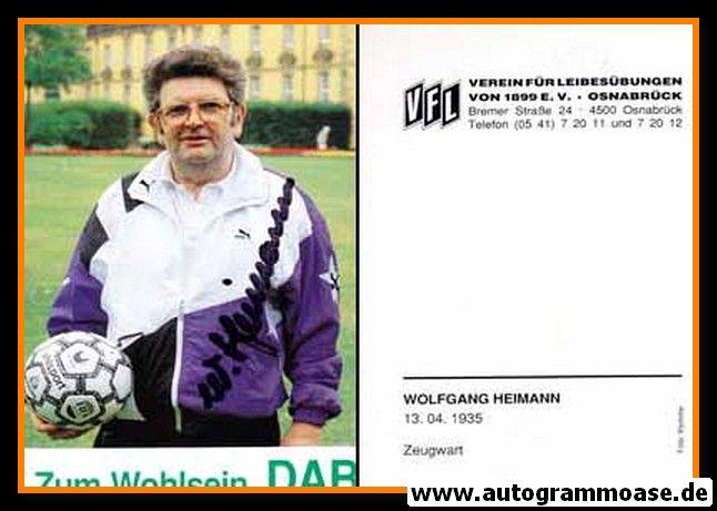 Autogramm Fussball | VfL Osnabrück | 1991 | Wolfgang HEIMANN