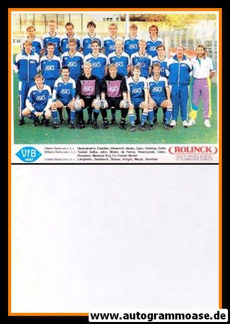 Mannschaftskarte Fussball   VfB Oldenburg   1990