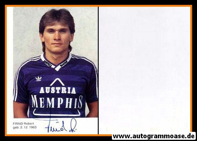 Autogramm Fussball   FK Austria Memphis Wien   1990   Robert FRIND