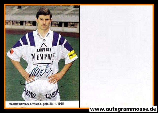 Autogramm Fussball | FK Austria Memphis Wien | 1992 | Arminas NARBEVOKAS