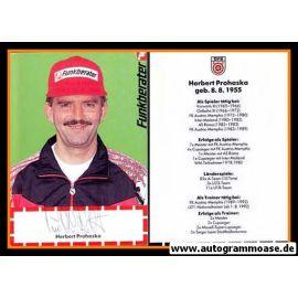 Autogramm Fussball | Österreich | 1990er | Herbert PROHASKA (Funkberater)