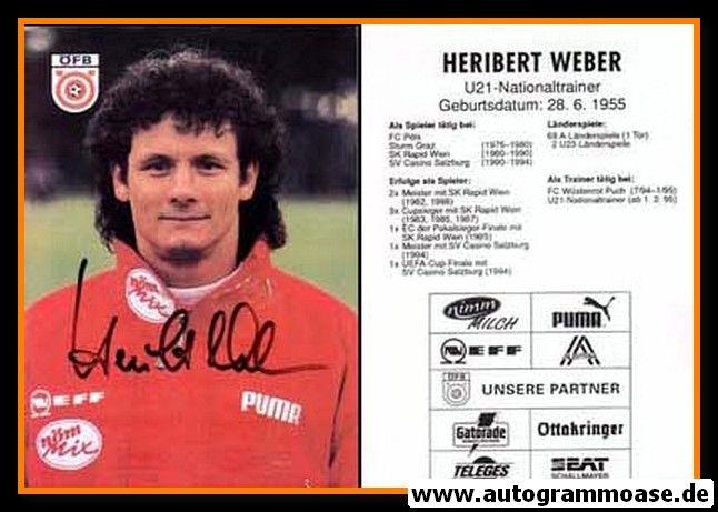 Autogramm Fussball | Österreich | 1991 | Heribert WEBER