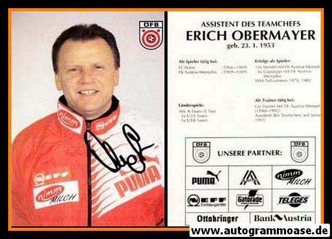 Autogramm Fussball   Österreich   1995   Erich OBERMAYER