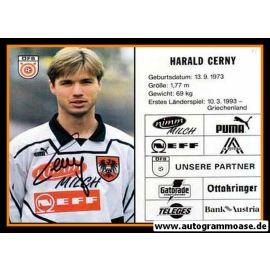 Autogramm Fussball   Österreich   1995   Harald CERNY