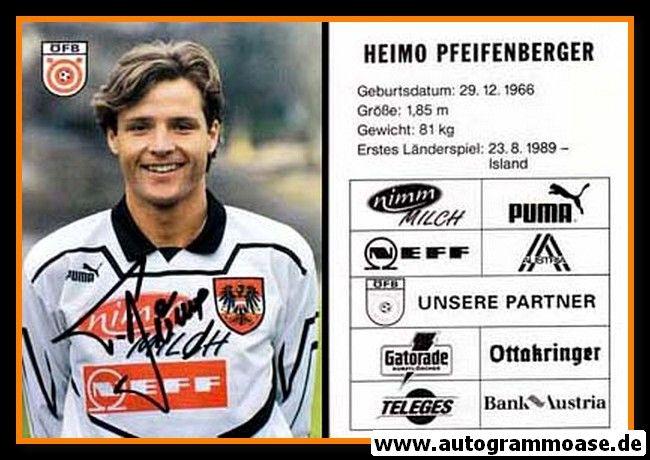 Autogramm Fussball   Österreich   1995   Heimo PFEIFENBERGER