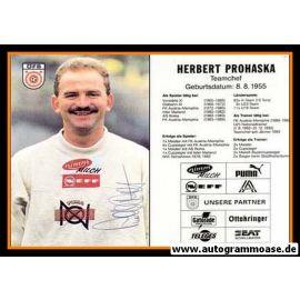 Autogramm Fussball | Österreich | 1995 | Herbert PROHASKA