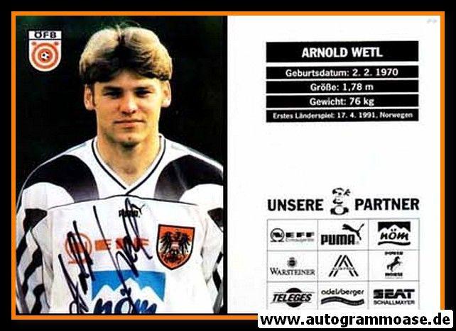 Autogramm Fussball   Österreich   1996   Arnold WETL