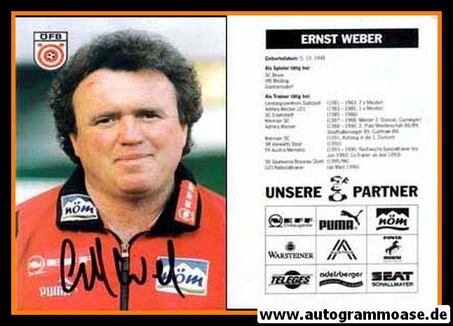 Autogramm Fussball | Österreich | 1996 | Ernst WEBER