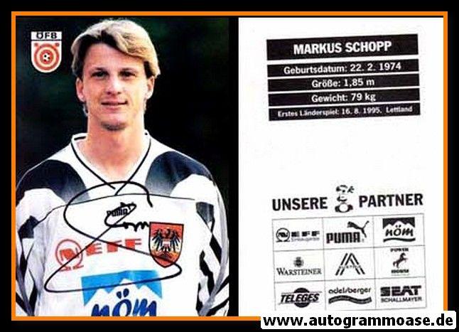Autogramm Fussball | Österreich | 1996 | Markus SCHOPP