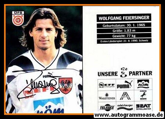Autogramm Fussball   Österreich   1996   Wolfgang FEIERSINGER