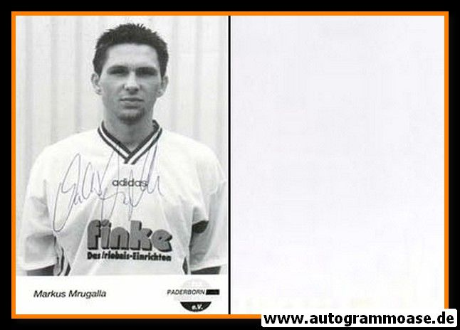 Autogramm Fussball | SC Paderborn 07 | 1995 | Markus MRUGALLA