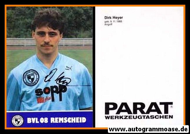 Autogramm Fussball | FC Remscheid | 1987 | Dirk HEYER