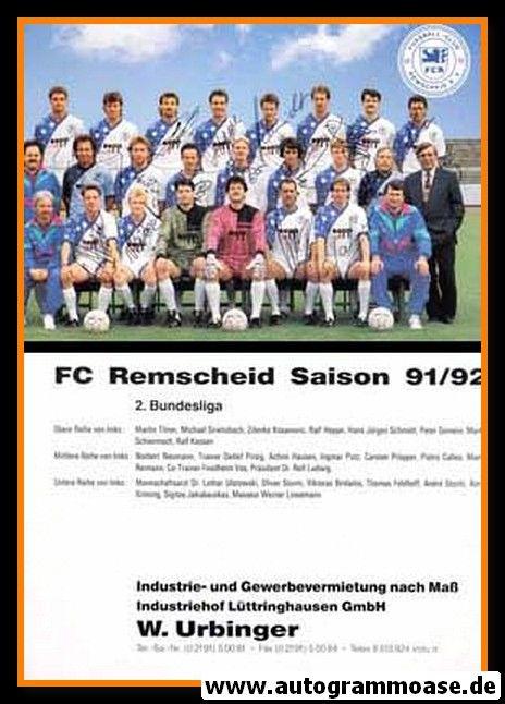 Mannschaftskarte Fussball | FC Remscheid | 1991 + 10 AG