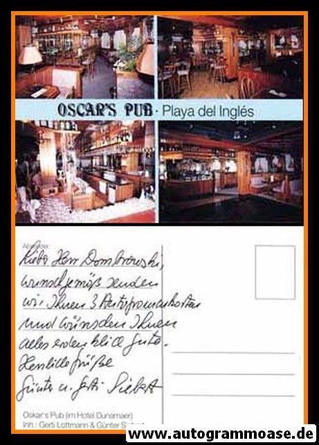 Postkarte Fussball | FC Schalke 04 | 1980er | Günter SIEBERT (Oscars Pub)