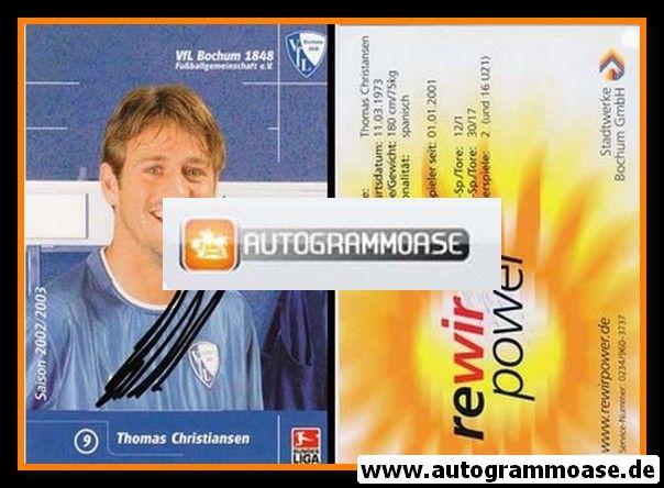 Autogramm Fussball   VfL Bochum   2002   Thomas CHRISTIANSEN