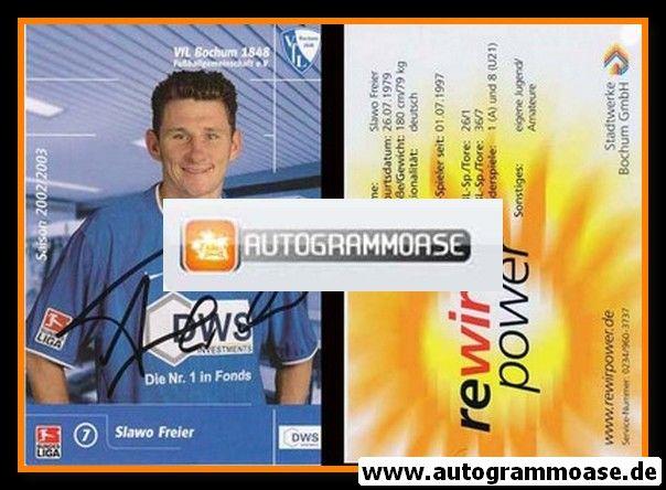 Autogramm Fussball | VfL Bochum | 2002 DWS | Paul FREIER