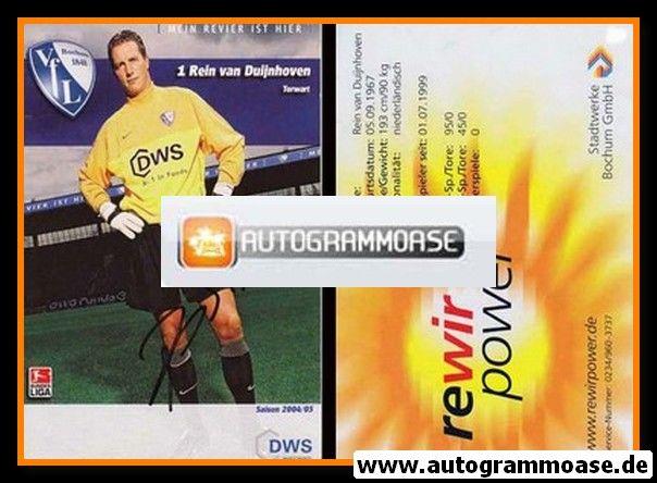 Autogramm Fussball | VfL Bochum | 2004 | Rein VAN DUIJNHOVEN
